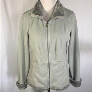 Athleta Faux Fur Lined Fleece Jacket